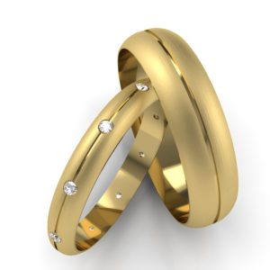 d shaped wedding rings